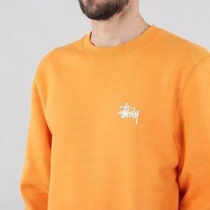 Orange STUSSY Crewneck Pullover